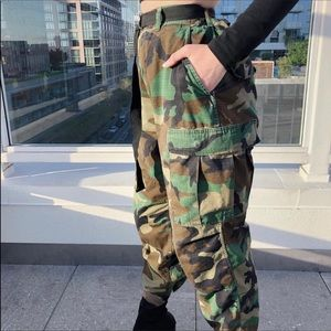 Vintage Military Issued Camo Cargo Pants